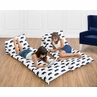 Navy Blue and White Kids Floor Pillow Case Lounger Cushion Cover for Big Bear Collection (Pillow Not Included)
