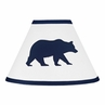 Navy Blue and White Lamp Shade for Big Bear Collection