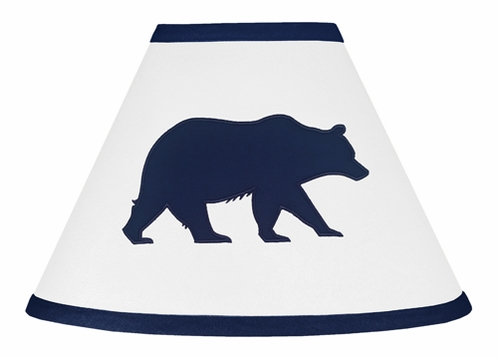 Navy Blue and White Lamp Shade for Big Bear Collection - Click to enlarge