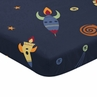 Navy Blue Baby or Toddler Fitted Mini Portable Crib Sheet for Space Galaxy Collection by Sweet Jojo Designs