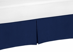 Navy Blue Crib Bed Skirt for Baby Bedding Sets by Sweet Jojo Designs