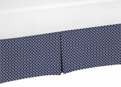Navy Blue Hexagon Print Crib Bed Skirt for Arrow Baby Bedding Sets by Sweet Jojo Designs