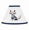 Navy Blue, Pink, and Grey Lamp Shade for Woodland Fox Collection by Sweet Jojo Designs