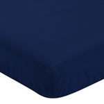 Navy Blue Solid Baby or Toddler Fitted Crib Sheet for Big Bear Collection