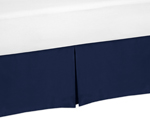 Navy Blue Toddler Bed Skirt for Blue Whale Collection Bedding Sets