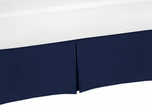 Navy Blue Toddler Bed Skirt for Blue Whale Collection Bedding Sets - Click to enlarge
