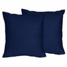 Navy Decorative Accent Throw Pillows for Navy Blue and Gray Stripe Collection- Set of 2