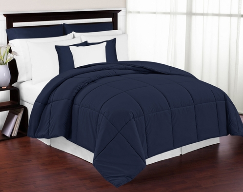 Navy Down-Alternative Comforter <br> Available in Twin, Queen & King Sizes - Click to enlarge