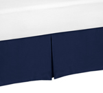 Navy Twin Bed Skirt for Blue Whale Collection Childrens and Teen Bedding Sets