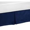 Navy Twin Bed Skirt for Modern Blue and Lime Stripe Teens Bedding Sets
