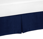 Navy Twin Bed Skirt for Navy and White Chevron Childrens and Teen Bedding Sets