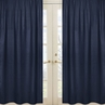 Navy Window Treatment Panels for Space Galaxy Collection - Set of 2