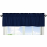 Navy Window Valance for Navy Blue and Gray Stripe Collection by Sweet Jojo Designs