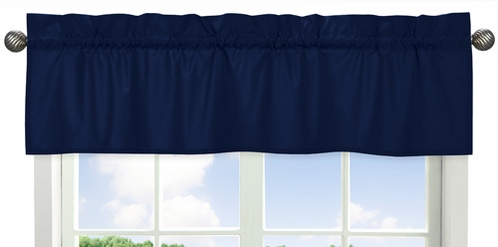 Navy Window Valance for Navy Blue and Orange Stripe�Collection by Sweet Jojo Designs - Click to enlarge
