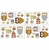 Night Owl Baby and Kids Wall Decal Stickers - Set of 4 Sheets