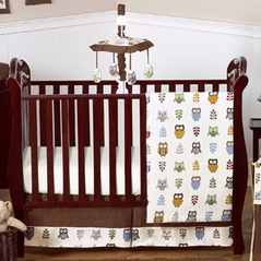Night Owl Baby Bedding - 11pc Crib Set