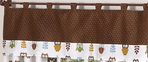 Night Owl Window Valance by Sweet Jojo Designs - Click to enlarge