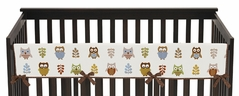 Night Owl Baby Crib Long Rail Guard Cover by Sweet Jojo Designs