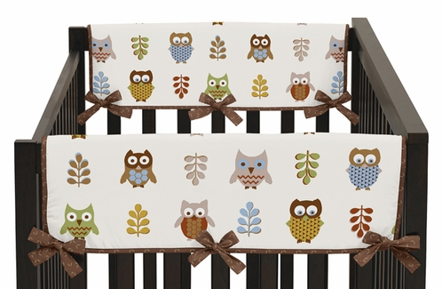 Night Owl Baby Crib Side Rail Guard Covers by Sweet Jojo Designs - Set of 2 - Click to enlarge