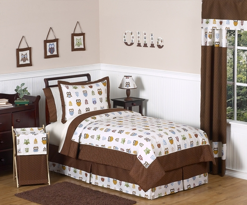 Night Owl Childrens Bedding - 3 pc Full / Queen Set - Click to enlarge