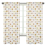 Night Owl Collection Window Treatment Panels by Sweet Jojo Designs - Set of 2