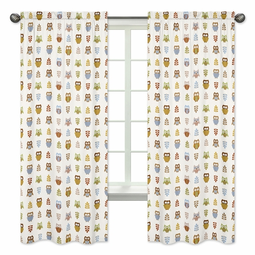 Night Owl Collection Window Treatment Panels by Sweet Jojo Designs - Set of 2 - Click to enlarge