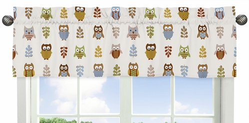 Night Owl Collection Window Valance by Sweet Jojo Designs - Click to enlarge