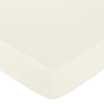 Night Owl Fitted Crib Sheet for Baby/Toddler Bedding - Natural Ivory