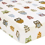 Night Owl Fitted Crib Sheet for Baby/Toddler Bedding - Owl Print