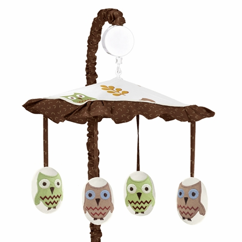 Night Owl Musical Baby Crib Mobile by Sweet Jojo Designs - Click to enlarge