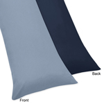 Ocean Blue Full Length Double Zippered Body Pillow Case Cover