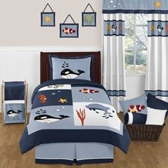 Ocean Blue Sea Life 3pc Full / Queen Bedding Set by Sweet Jojo Designs