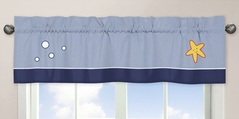 Ocean Blue Sea Life Collection Window Valance by Sweet Jojo Designs