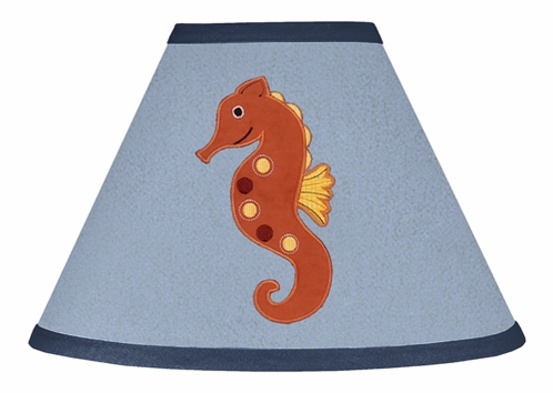 Ocean Blue Sea Life Lamp Shade by Sweet Jojo Designs - Click to enlarge