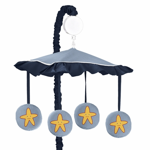 Ocean Blue Sea Life Musical Baby Crib Mobile by Sweet Jojo Designs - Click to enlarge
