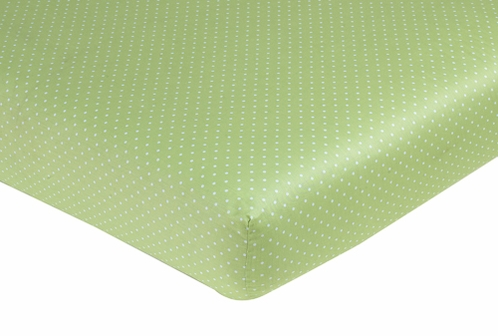 Olivia Fitted Crib Sheet for Baby/Toddler Bedding - Mini Polka Dots - Click to enlarge