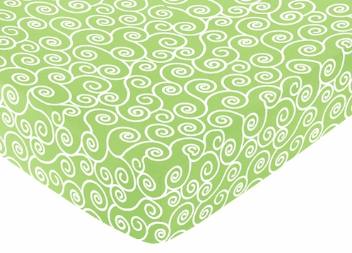 Olivia Fitted Crib Sheet for Baby/Toddler Bedding Sets - Scroll Print - Click to enlarge