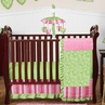 Olivia Girls Boutique Pink and Green Baby Bedding - 11pc Crib Set by Sweet Jojo Designs