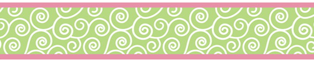 Olivia Pink And Green Children And Kids Wall Border By Sweet Jojo