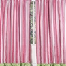 Olivia Pink and Green Stripe Window Treatment Panels - Set of 2