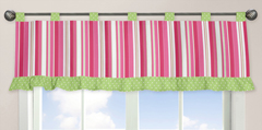 Olivia Pink and Green Window Valance by Sweet Jojo Designs
