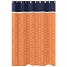 Orange and Navy Arrow Kids Bathroom Fabric Bath Shower Curtain