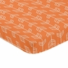 Orange and White Baby Toddler Fitted Mini Portable Crib Sheet for Arrow Collection by Sweet Jojo Designs