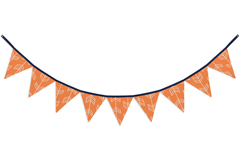 Orange and White Arrow Fabric Pennant Flag Banner Bunting Nursery Baby Wall D�cor