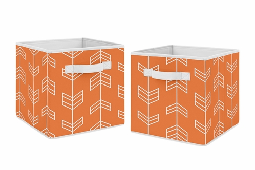 Orange Arrow Foldable Fabric Storage Cube Bins Boxes Organizer Toys Kids Baby Childrens for Collection by  sc 1 st  Beyond-Bedding.com & Orange Arrow Foldable Fabric Storage Cube Bins Boxes Organizer Toys ...
