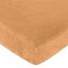 Oriental Garden Fitted Crib Sheet for Baby and Toddler Bedding Sets by Sweet Jojo Designs - Solid Camel Microsuede