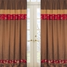 Oriental Garden Window Treatment Panels - Set of 2