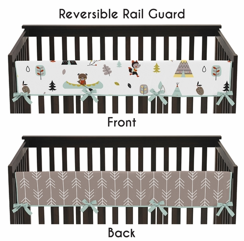 Outdoor Adventure Baby Crib Long Rail Guard Cover by Sweet Jojo Designs - Click to enlarge