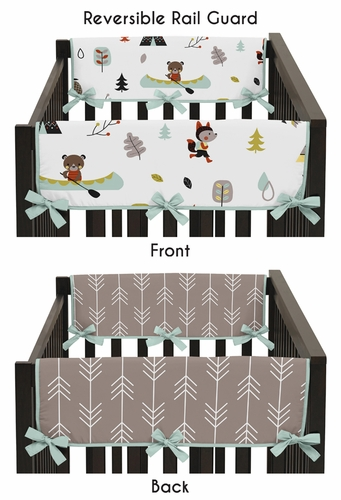 Outdoor Adventure Baby Crib Side Rail Guard Covers by Sweet Jojo Designs - Set of 2 - Click to enlarge