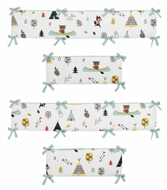 Outdoor Adventure Collection Crib Bumper by Sweet Jojo Designs